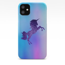Purple Sparkly Unicorn iPhone Case