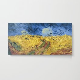 Wheatfield with Crows by Vincent van Gogh Metal Print