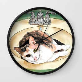 Catrina in the Sink Wall Clock