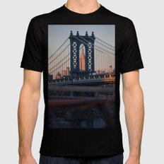 Crossroads  Black Mens Fitted Tee SMALL