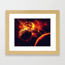 Space is on Fire Framed Art Print