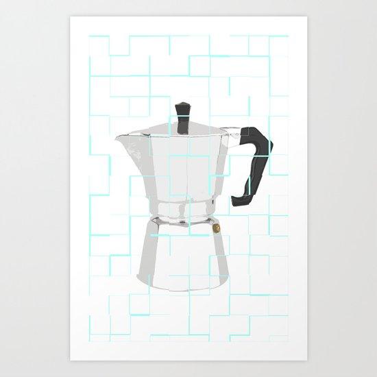 A GOOD COFFEE Art Print