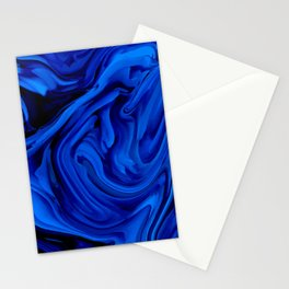 Blue Liquid Marbled texture Stationery Cards