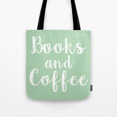 Books and Coffee - Green Tote Bag