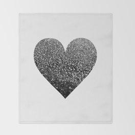 BLACK HEART Throw Blanket