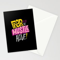 Fear keeps the Hustle Alive Stationery Cards