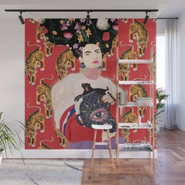 Let your mind blossom - Fashion portrait Wall Mural