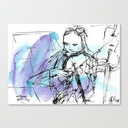 Violin in two tones I Canvas Print