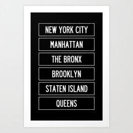 New York City Wall Art Art Print