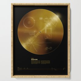Voyager Golden Record Serving Tray