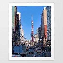 Tokyo Tower Seen from Gaien-Higashi-Dori Art Print