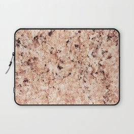 Vintage abstract orange brown rustic marble Laptop Sleeve