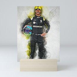 Daniel Ricciardo driver Mini Art Print