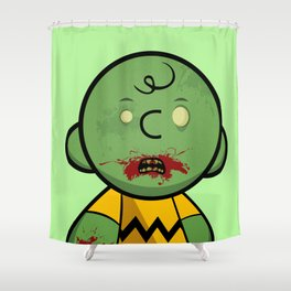 Zombie Charlie Brown Shower Curtain