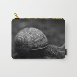 Snail in Black and White Carry-All Pouch