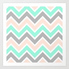 MUTED CHEVRON Art Print