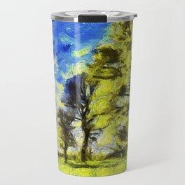 English Summer Farm Van Gogh Travel Mug