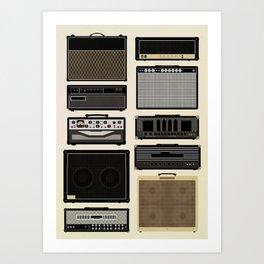 Classic Amps Art Print