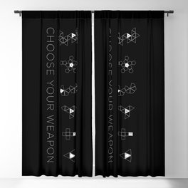 Choose Your Weapon Blackout Curtain