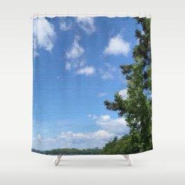 Spring Blue Sky Shower Curtain