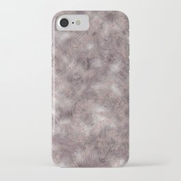 Gray Marble Pattern with Rose Gold iPhone Case