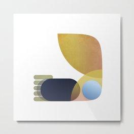 BIRD WORM & BULLET POINTS Metal Print
