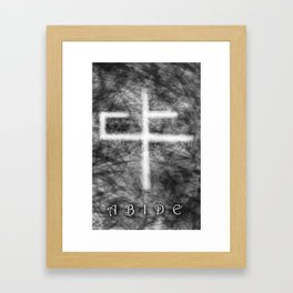 Abide Black & White Framed Art Print