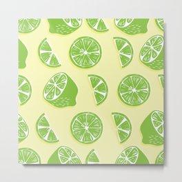 Lime pattern 04 Metal Print