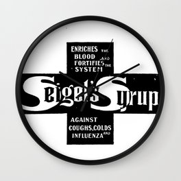 Seigel's cough syrup Wall Clock