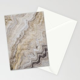 Hand Marbled Pattern Earth Colors Stationery Cards