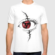 Sharingan Eyes White Mens Fitted Tee SMALL