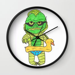 Baby creature from the black lagoon Wall Clock