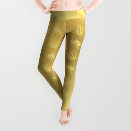 Elegant faux gold pineapple pattern Leggings