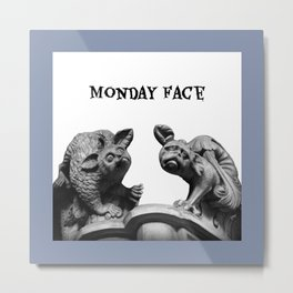 Monday Face Metal Print