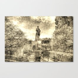 Allan Ramsey And Edinburgh Castle Vintage Canvas Print