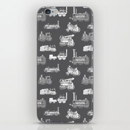 Antique Steam Engines // Charcoal Grey iPhone Skin