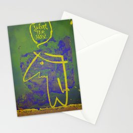 wth? man Stationery Cards