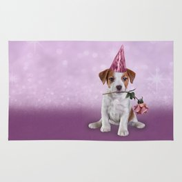Drawing Puppy Jack Russell Terrier Rug