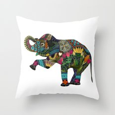 asian elephant white Throw Pillow