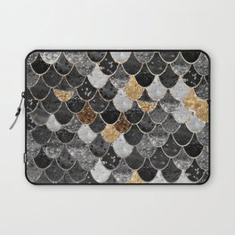 REALLY MERMAID BLACK GOLD Laptop Sleeve