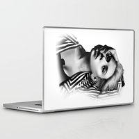 lip Laptop & iPad Skins featuring Pulling Lip by BeckiBoos