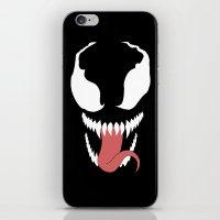 venom iPhone & iPod Skins featuring venom  by Rebecca McGoran