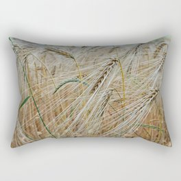 beautiful barley field Rectangular Pillow