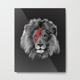 David Bowie Lion Metal Print