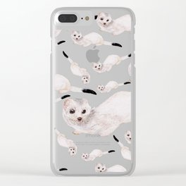 Winter ermine (c) 2017 Clear iPhone Case