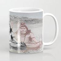 shiva Mugs featuring Shiva by Jonnea Herman