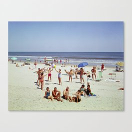 1960's Wildwood NJ Beach, Canvas Print
