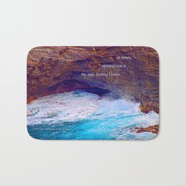 """Kauai's Land's End #9"" with poem: At Times Bath Mat"