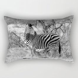 Are you black with white stripes? Rectangular Pillow