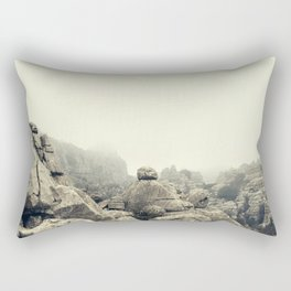 Misty rocks Rectangular Pillow